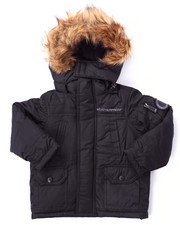 Boys - PARKA W/ FAUX FUR TRIM HOOD (2T-4T)