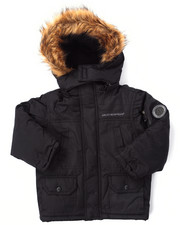 Boys - PARKA W/ FAUX FUR TRIM HOOD (4-7)