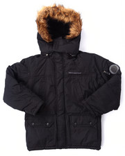 Heavy Coats - PARKA W/ FAUX FUR TRIM HOOD (8-20)