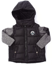 Boys - BUBBLE VEST W/ SWEATER SLEEVES (2T-4T)