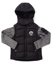Heavy Coats - BUBBLE VEST W/ SWEATER SLEEVES (8-20)