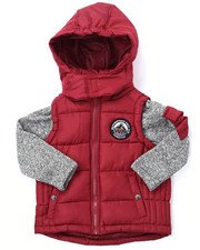 Boys - BUBBLE VEST W/ SWEATER SLEEVES (4-7)