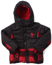 Boys - BUFFALO PLAID BUBBLE JACKET (4-7)