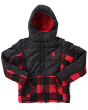 Heavy Coats - BUFFALO PLAID BUBBLE JACKET (8-20)