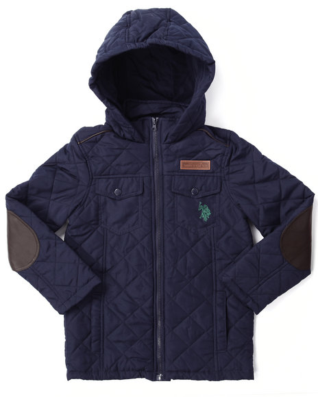 U.S. Polo Assn. - Boys Navy Quilted Midweight Jacket (8-20)
