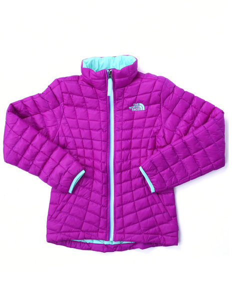The North Face - Girls Pink Thermoball Full Zip Jacket (4-16)