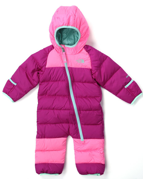 The North Face - Girls Pink Lil' Snuggler Down Suit (Infant)