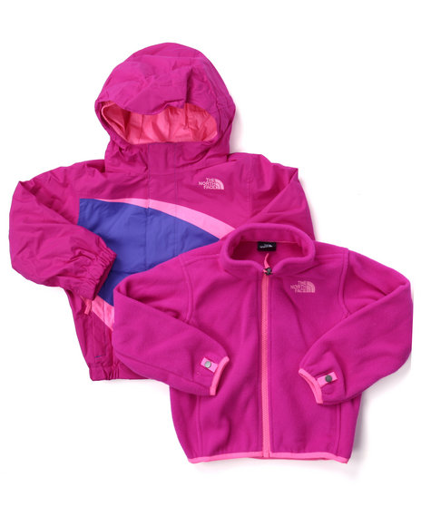 The North Face - Girls Pink Mountain View Triclimate Jacket (2T-4T)