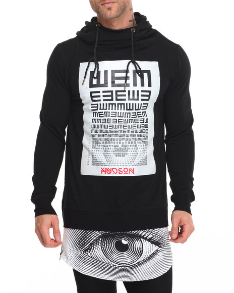 Hudson Nyc - Men Black All Eyes L/S Pullover Hoody