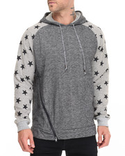 Buyers Picks - Star Print Aysmetric Zip Hoody