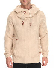 Men - Knitted Pullover Sweater Hoodie