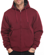 Men - Quilt - Lined Fleece Zip - Up Hoodie