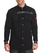 Men - Super Mesh Paneled L/S Button - Down