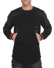 Men - Moto Shoulder Patch Sweater