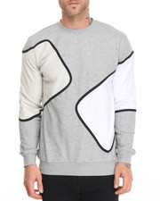 Men - Multi Panel Crewneck Sweatshirt