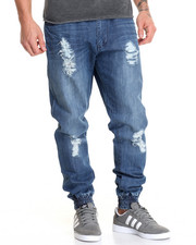 Men - Sage Distressed Denim Jean