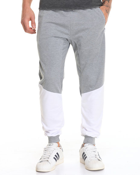 Buyers Picks - Men Grey,White Leg Panel Jogger