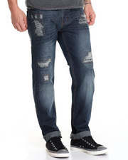 Men - Distressed Indigo Washed Jean