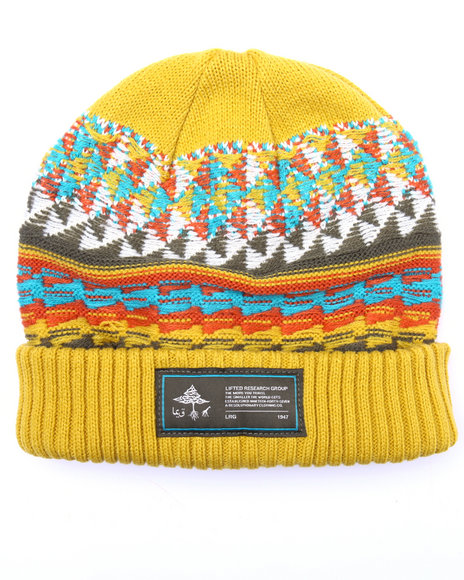 Lrg Men Life Is Nomadic Beanie Yellow