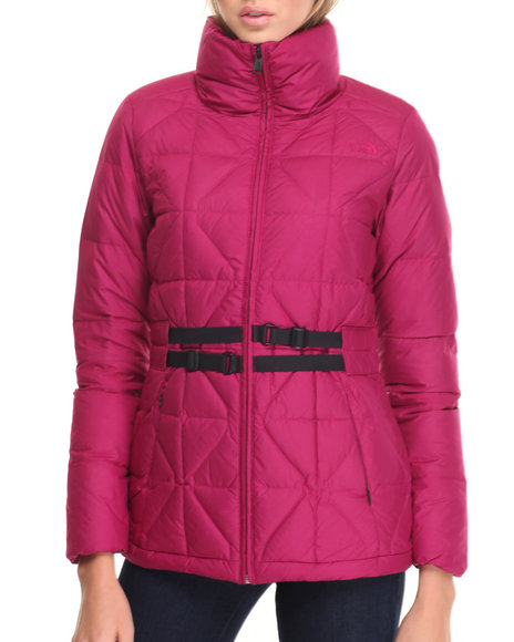 The North Face Women Women Belted Mera Peak Jacket Purple Large