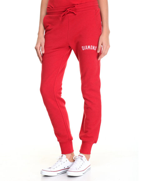 Diamond Supply Co - Women Red Diamond Sweatpants