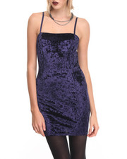 Dresses - Crushed Velvet Woven Dress