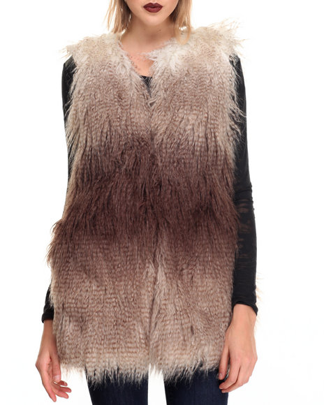 Steve Madden - Women Multi Multi Dream Faux Fur Coat Vest