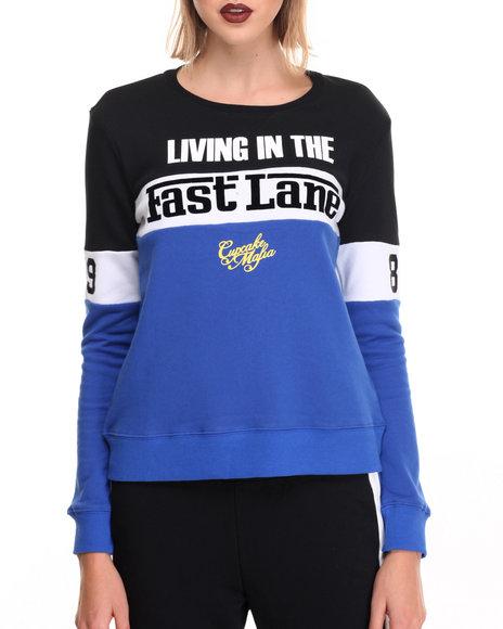 Cupcake Mafia - Women Multi Fast Lane Sweatshirt - $35.99