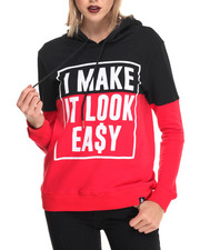 Hoodies - Look Easy Hooded Sweatshirt