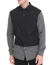 Buyers Picks - R - Sole Cotton / French Terry L/S Button - Down