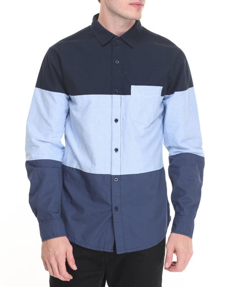 Buyers Picks - Men Navy R - Sole Oxford / Poplin L/S Button - Down