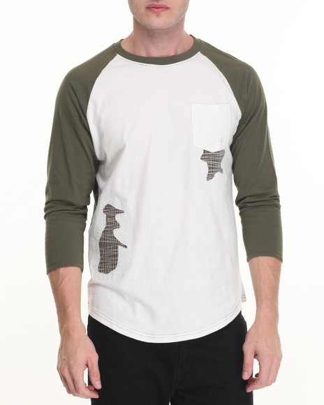 Winchester - Men White Flag Applique T-Shirt - $38.00