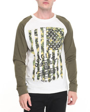Shirts - Camo Pattern Americana Raglan
