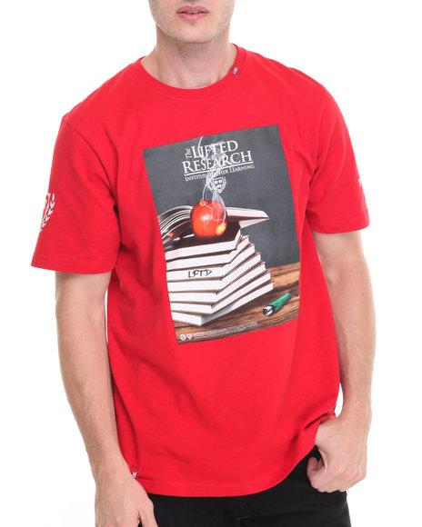 Lrg Men Higher Learning T-Shirt Red Medium