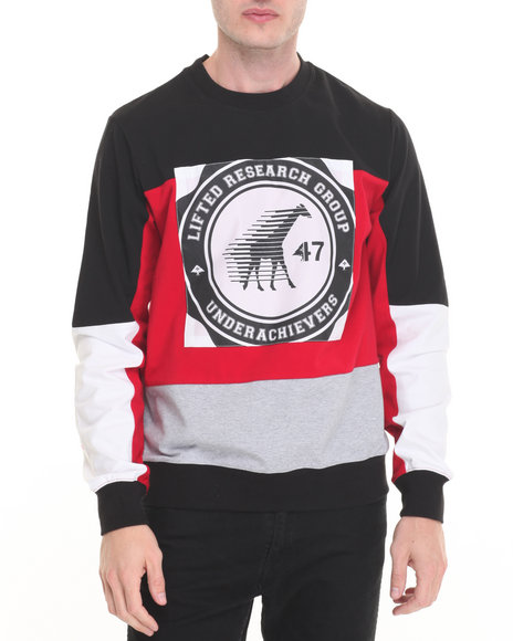 Lrg - Men Black Desroyed Sweatshirt