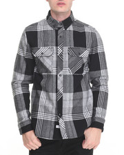The Hundreds - Town Flannel Nano Coat Water Repellent L/S Button-down