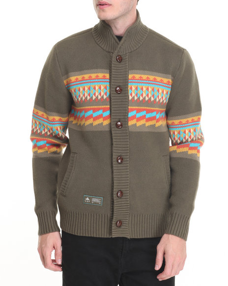 Lrg - Men Green Nomadic Tribe Sweater
