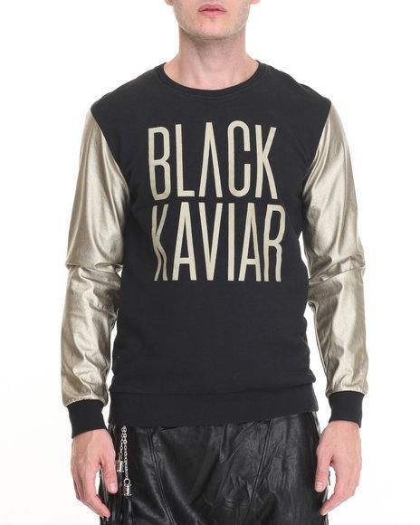 Black Kaviar - Men Black,Gold Black Kaviar Sweatshirt