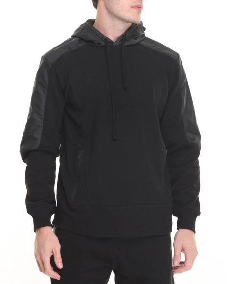 Buyers Picks - Men Black R - Sole Interlock / Nylon Fishtail Hoodie