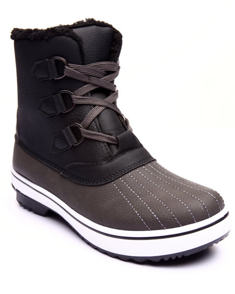 Fashion Lab - Women Black,Grey Nordic Lace Up Water Resistant Boot