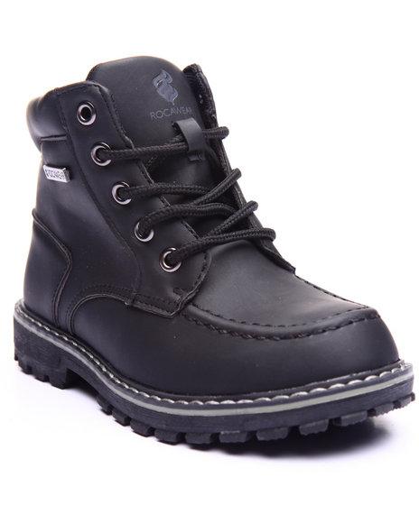 Rocawear - Boys Black Steve Moc Toe Boots (11-3)