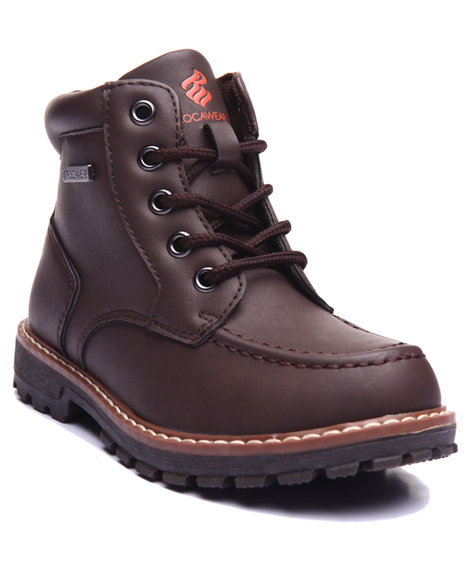 Rocawear - Boys Brown Steve Moc Toe Boots (11-3)