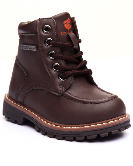 Rocawear - Boys Brown Steve Moc Toe Boots (5-10)