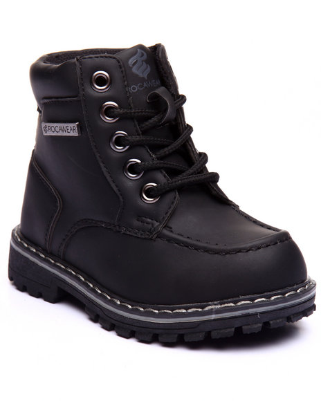 Rocawear Boys Steve Moc Toe Boots (5-10) Black 5 Toddler