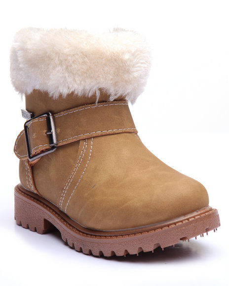 Rocawear Girls Faux Sherpa Boots (510) Tan 7 Toddler