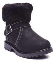 Girls - FAUX SHERPA BOOTS (11-3)