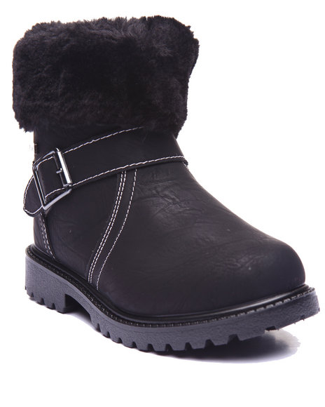 Rocawear Girls Faux Sherpa Boots (113) Black 2 Youth