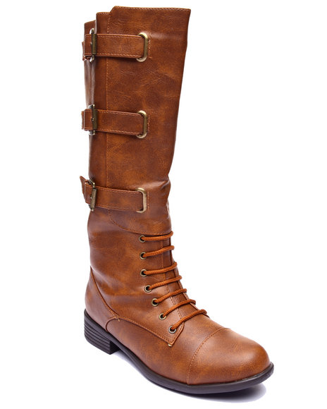 Basic Essentials - Women Brown Monique Buckle Strap Boot