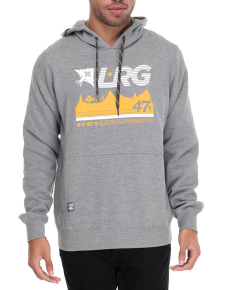 Lrg - Men Grey 47Th Expedition Pullover Hoodie