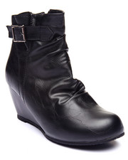 Basic Essentials - Minor Single Strap Wedge Boot